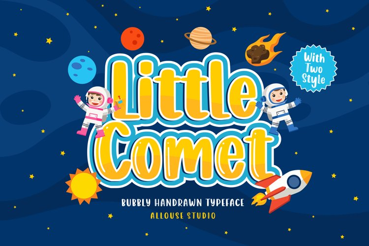 Web Font - Little Comet - Bubbly Handdrawn Typeface example image 1