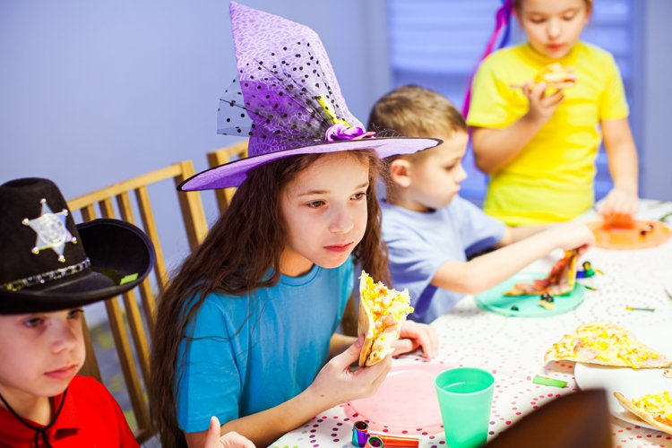 Birthday celebration with pizza example image 1