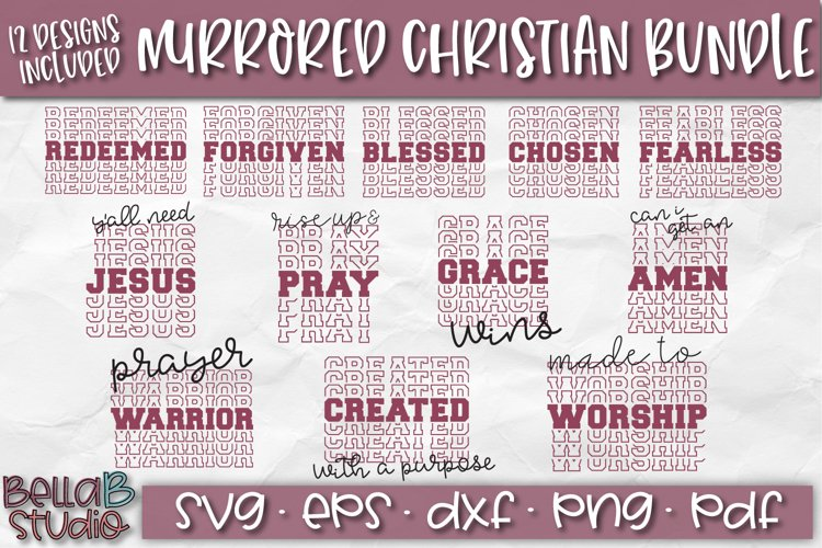 Christian Quotes SVG Bundle, Christian SVG Cut Files, Mirror example image 1