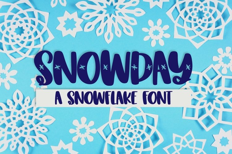 Web Font SNOWDAY - A Snowflake font example image 1