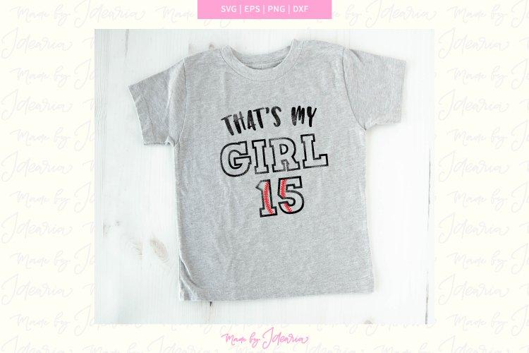 Thats my Girl Svg, girl baseball svg, girl svg, Baseball Svg example image 1