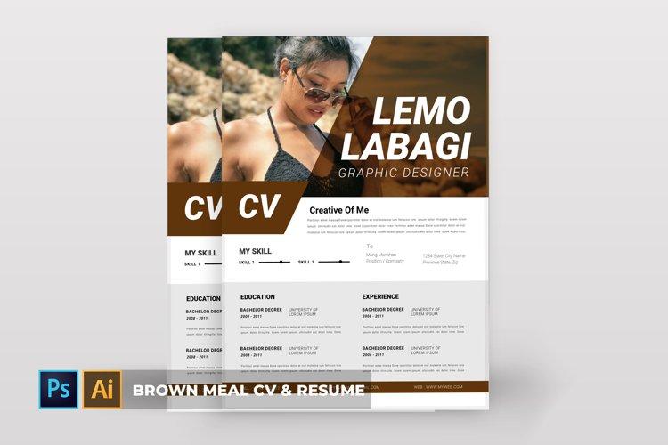 Brown Meal | CV & Resume example image 1