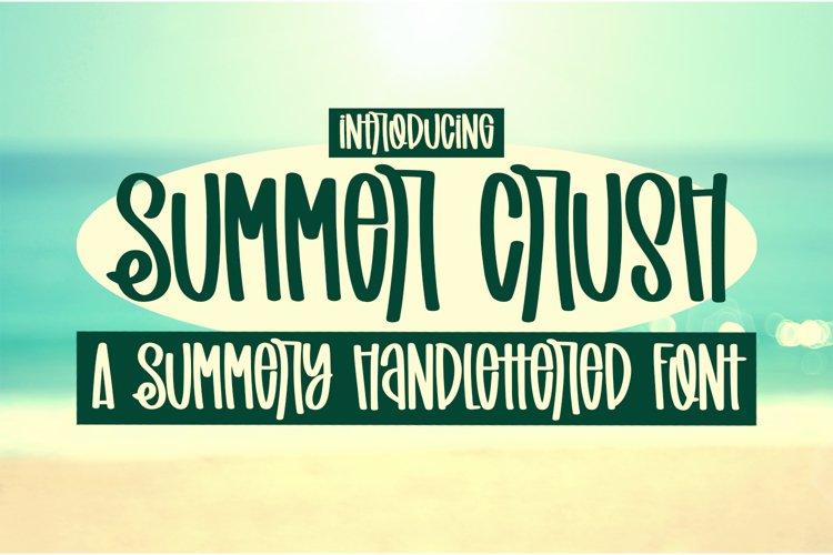 Summer Crush - A Summery Handlettered Font example image 1