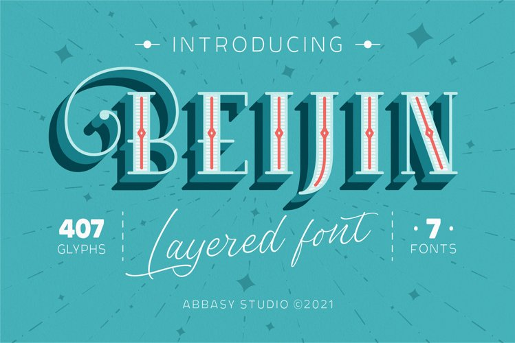 Beijin Layered Font example image 1