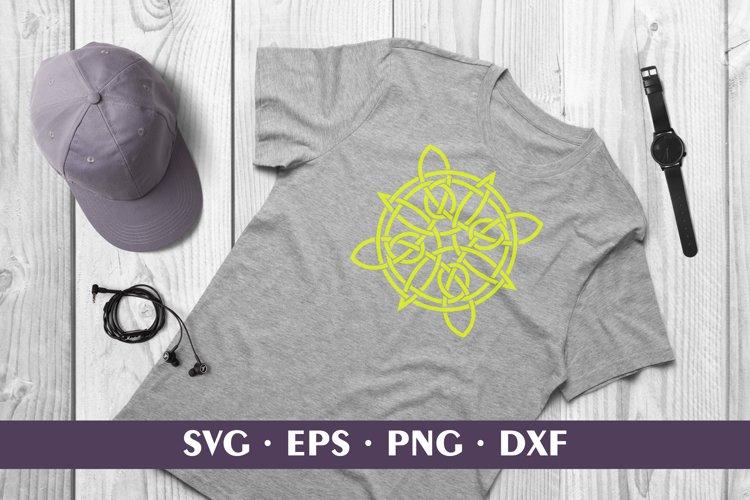 Yellow Shamrock Celtic Knot Sublimation /Cut SVG DXF PNG EPS example image 1
