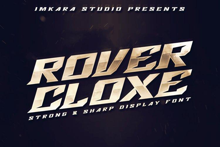 Rover Cloxe - Sharp & Strong Display Font example image 1