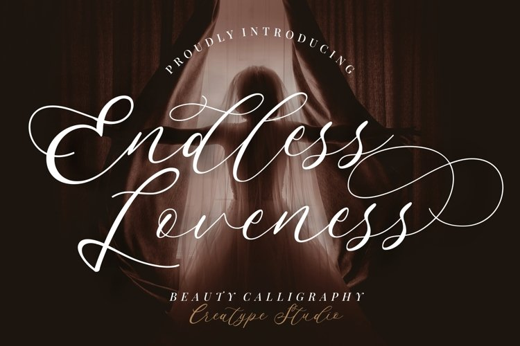 Endless Loveness Beauty Calligraphy example image 1