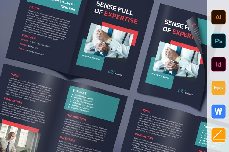 Business Consultant Brochure Bifold example image 1