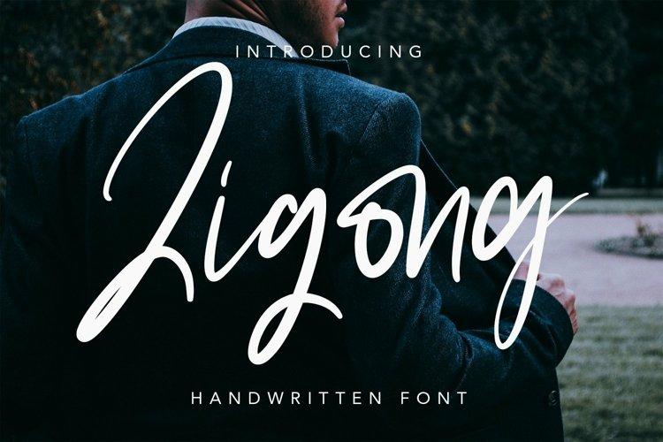 Web Font Zigong - Script Fonts example image 1