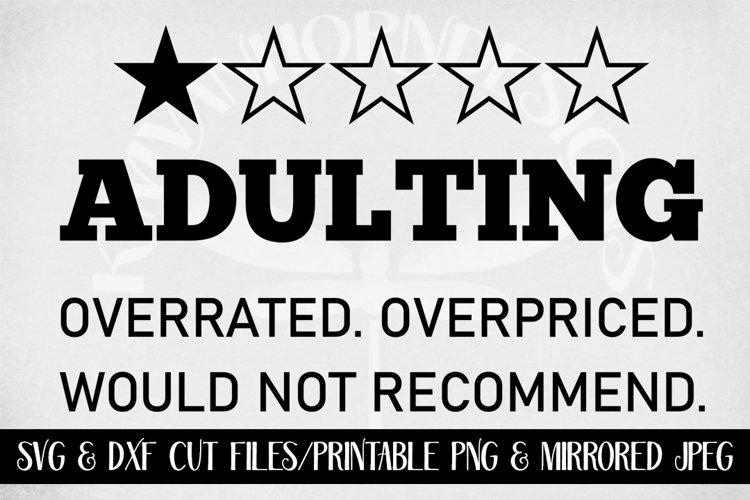 Adulting One Star svg