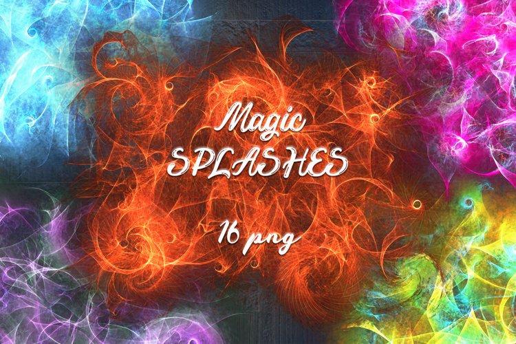 Magic Light Splashes 16 png example image 1