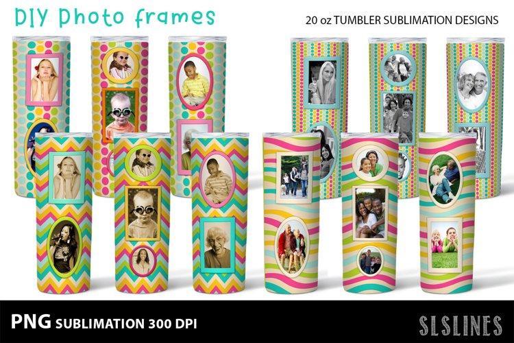 DIY Photo Frames PNGs - Tumbler Sublimation Designs 20oz example image 1