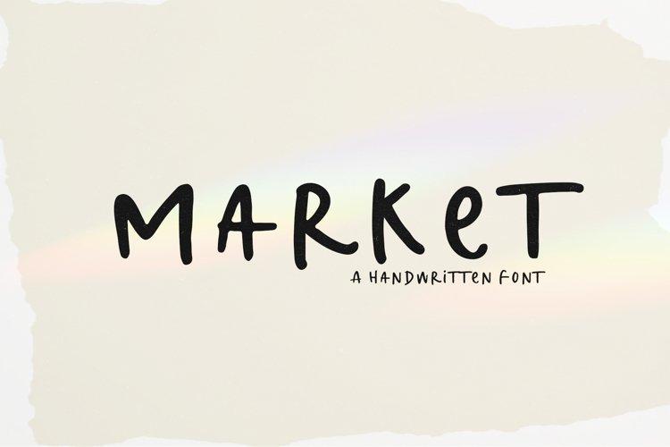 Market - A Handwritten Font example image 1