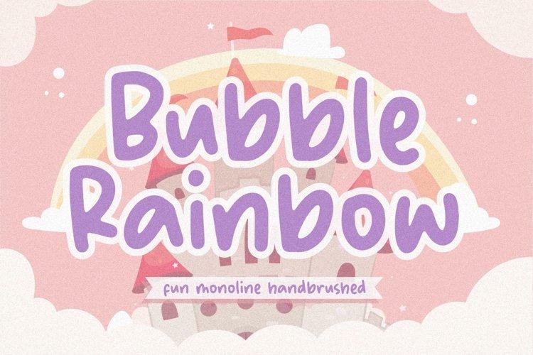 Bubble Rainbow Fun Monoline Handbrushed Font example image 1
