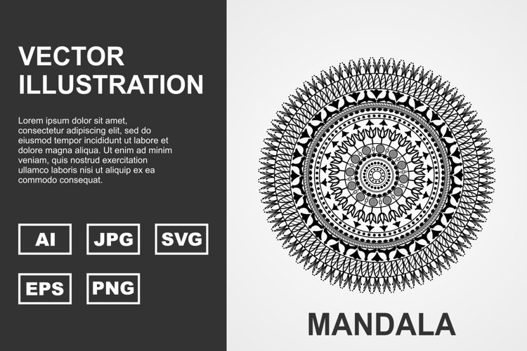 Vector Mandala Illustration Design example image 1
