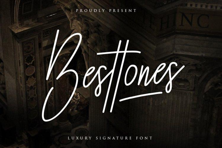 Besttones Signature Font example image 1