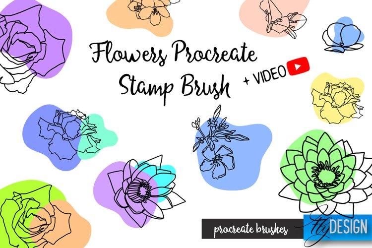 Flowers Procreate Brush. Floral Stencil. Procreate Stamp example
