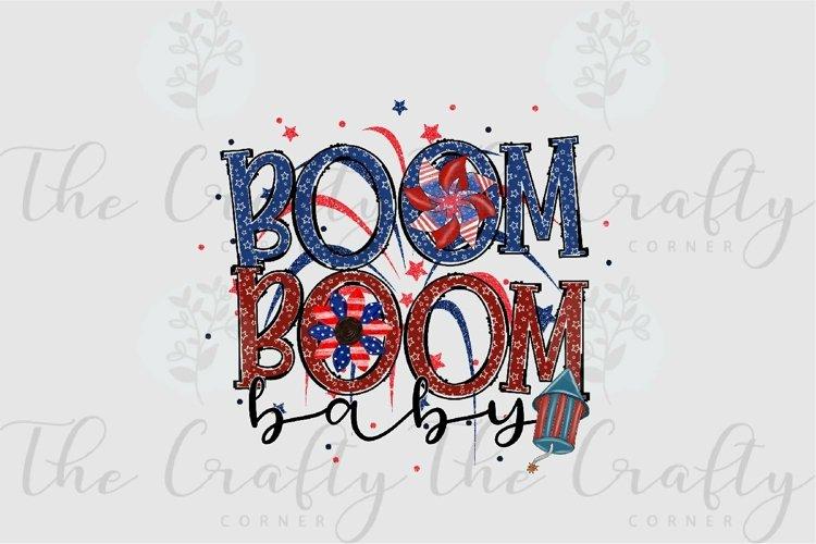 Boom Boom Baby Sublimation Design