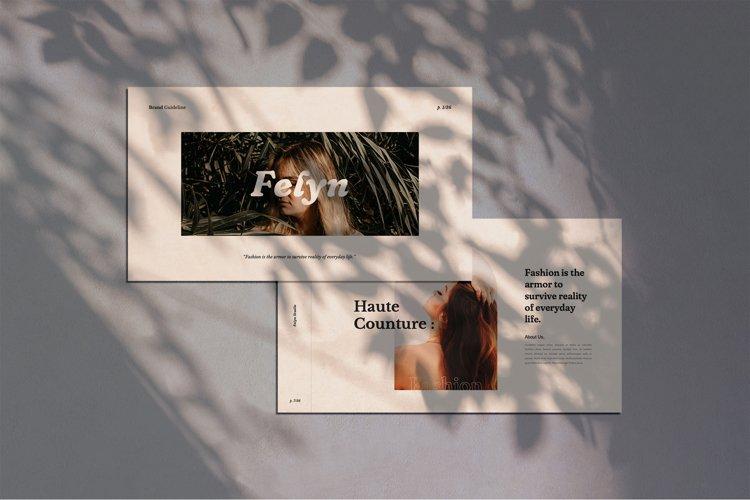 Felyn - Brand Guideline Keynote Presentation Template example image 1
