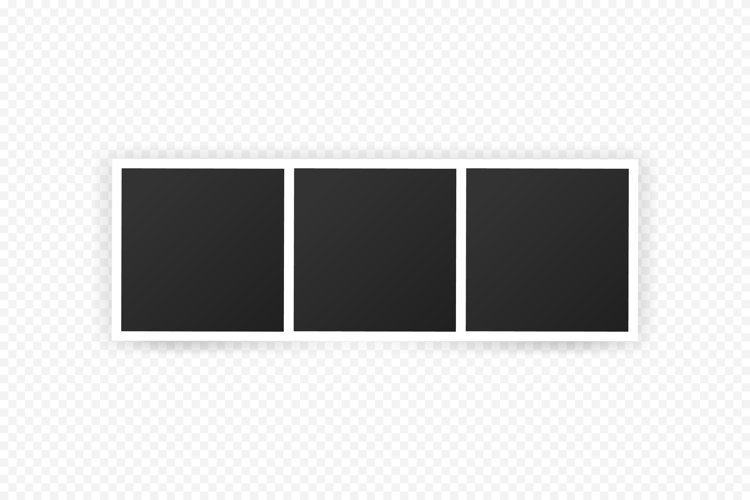 Photo frame mockup design. Realistic photograph with blank example image 1