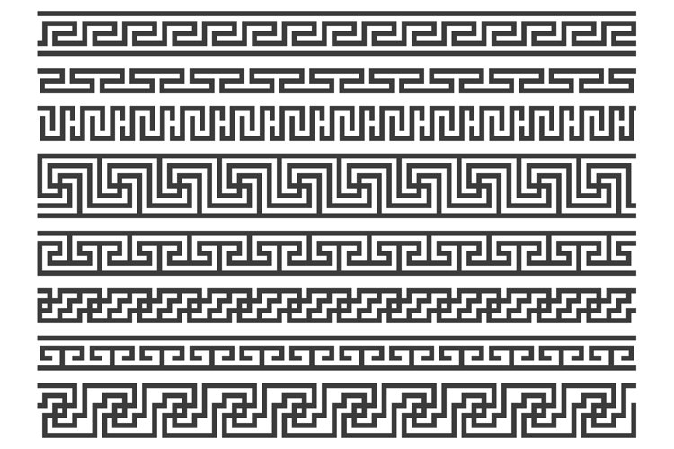Download Greek Borders Ancient Roman Or Grecian Geometric Frame Deco 1012577 Illustrations Design Bundles