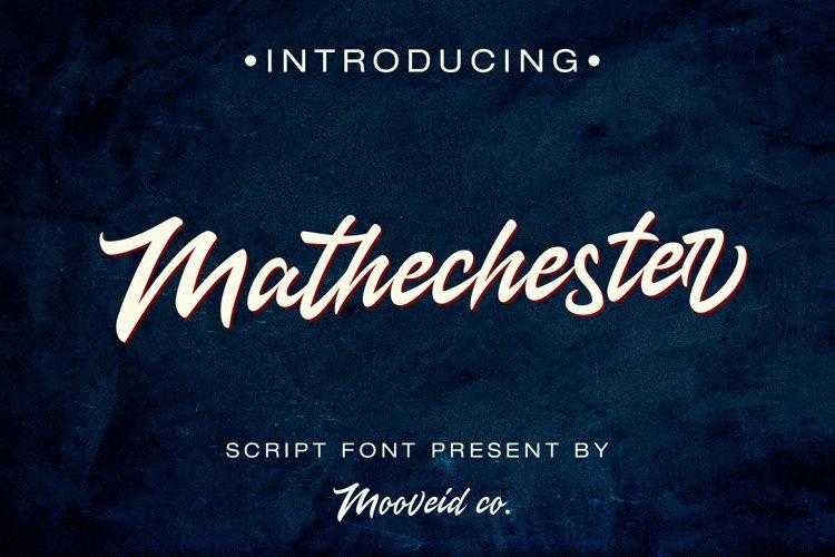 Mathechester Script example image 1