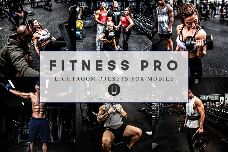 12 Mobile Lightroom Presets Fitness Pro example image 1