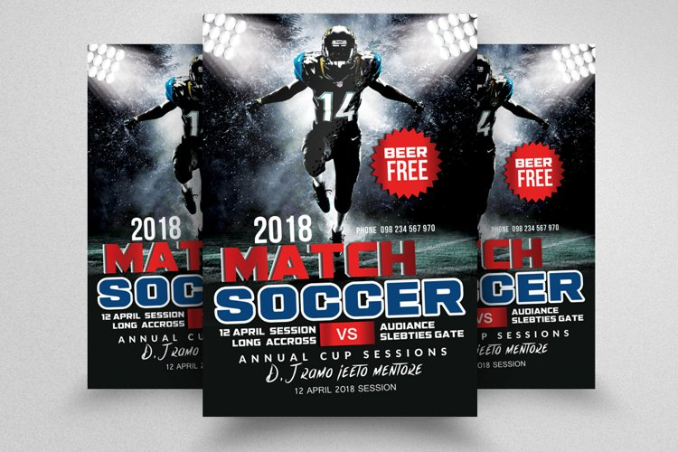 Soccer Match Flyer Template example image 1
