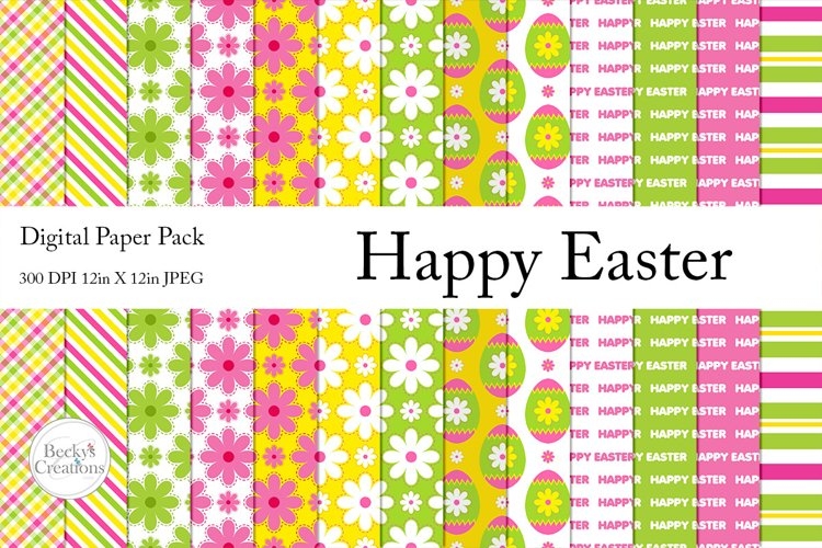 Happy Easter Paper Pack example image 1