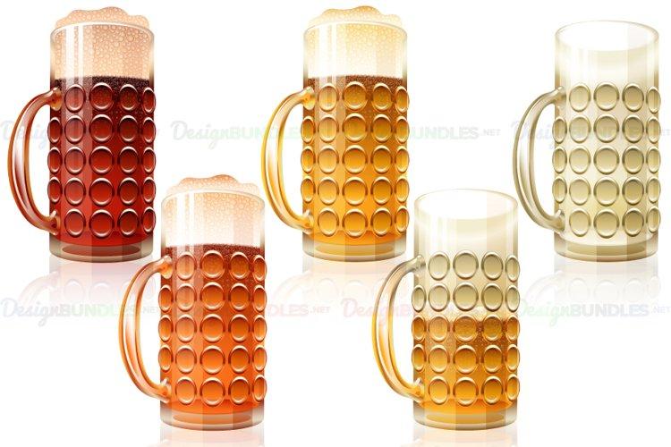 Vector Beer Glass Porter Dark Light Lager Varieties Full example image 1