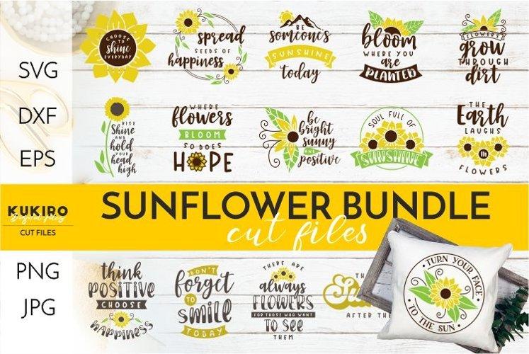 Sunflower Bundle SVG - Positive vibes - Motivational quotes