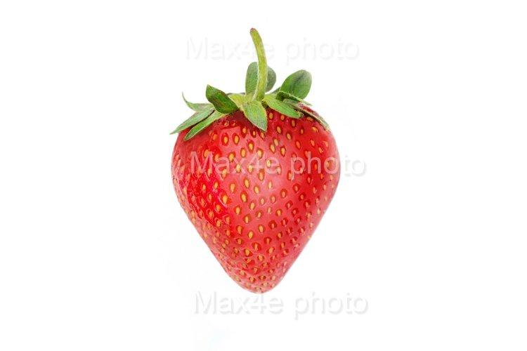 Strawberry closeup isolated on white background
