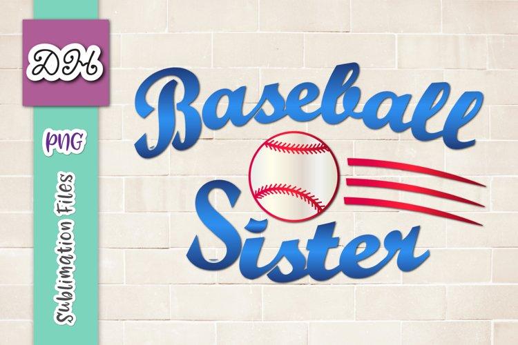 Baseball Sister Player family Sign Sublimation Print File PN
