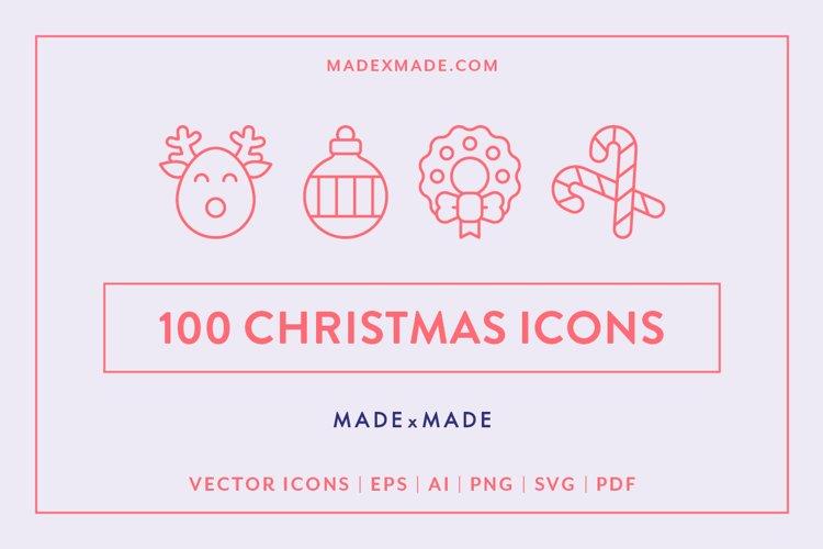 Line Icons - Christmas example image 1