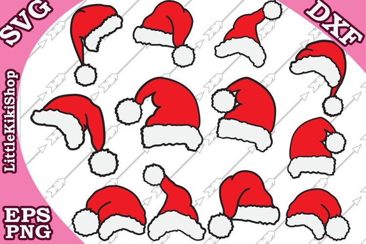 Santa Hat Svg, Christmas Svg,Santa Claus Svg, Xmas clipart