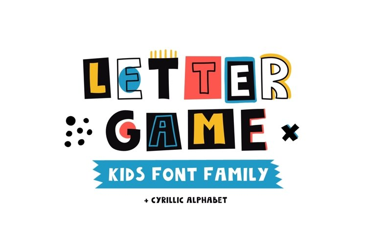 LetterGame - Kids font family example image 1