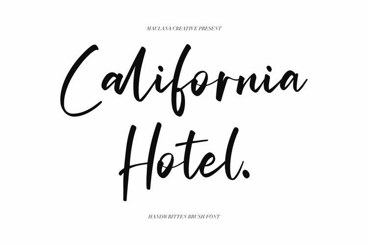 California Hotel - Handwritten Brush Font example image 1