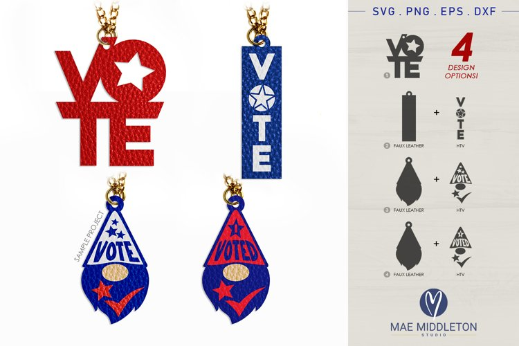 Vote | Faux Leather Pendant Template