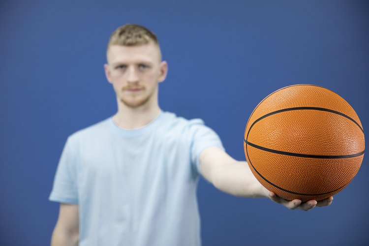Young man wearing t-shirt studio shot isolated on background example image 1