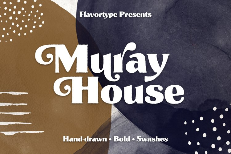 Muray House Handdrawn Font Extras example image 1