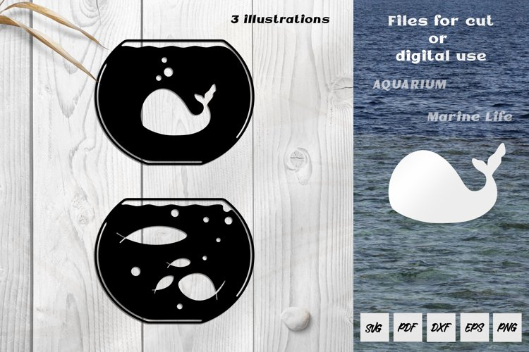 Aquarium SVG. Files for paper cut /laser cut / digital use