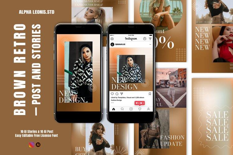 Fashion Gradient Brown Stories Post