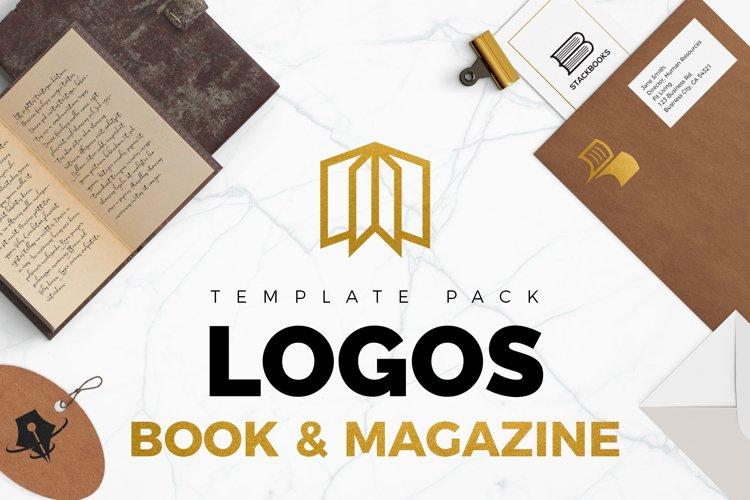 Books & Magazine Logos Bundle Pack example image 1