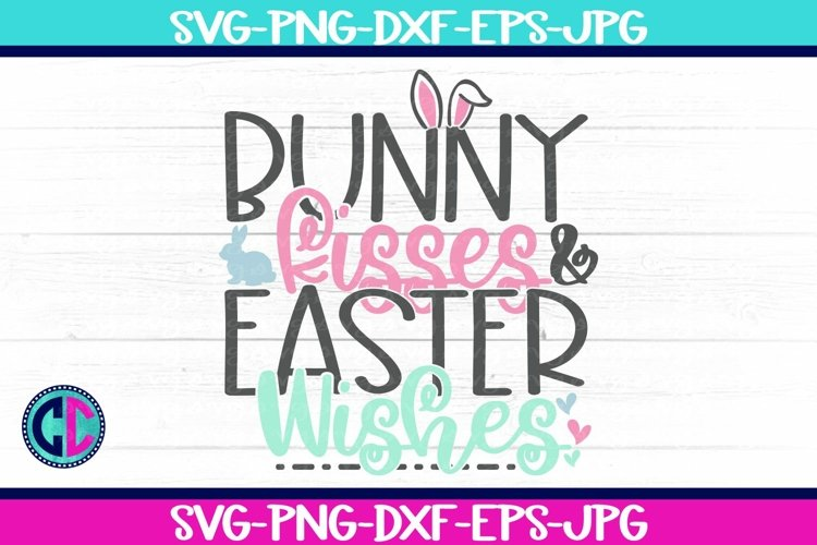 Bunny Kisses Easter Kishes SVG example image 1