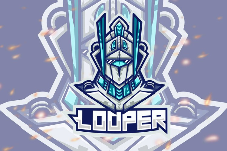 Looper Robot Esport Gaming Logo example image 1