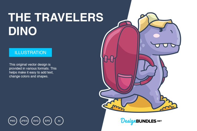 The Travelers Dino Vector Illustration example image 1