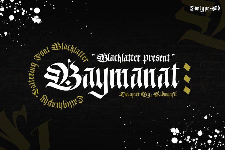 Baymanat - Callighraphy Blacklatter example image 1