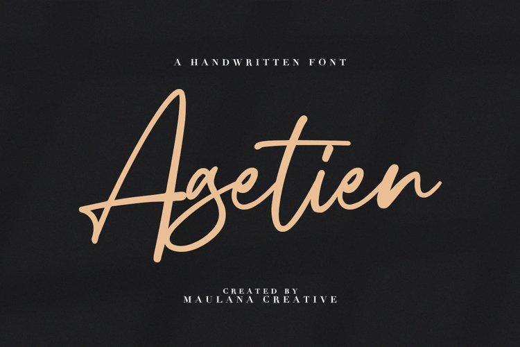 Agetien - Handwritten Font example image 1