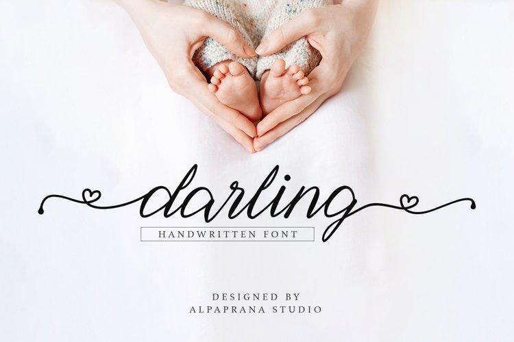 Darling - Handwritten Font example image 1