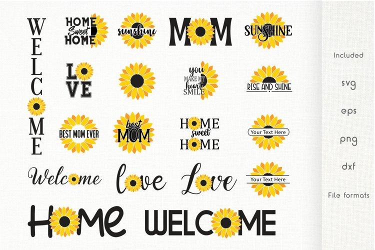 Sunflower SVG - Sunflower Quotes SVG Bundle